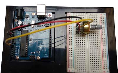 Entradas analógicas, potenciómetro en Arduino