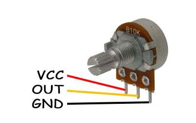Potenciómetro B10K lineal de 10K ohm. Con eje estriado