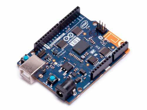 Placa Arduino genuino 101, cuenta con un acelerómetro de seis ejes y un giroscopio