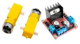 Funcionamiento del módulo controlador de motores L298N.