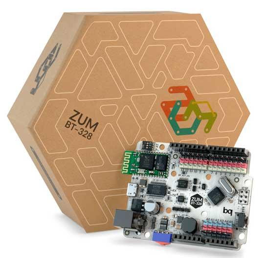 Placa BQ ZUM BT-328, compatible con Arduino.