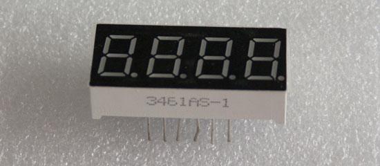 Display de 4 dígitos y 7 segmentos 3461AS-1
