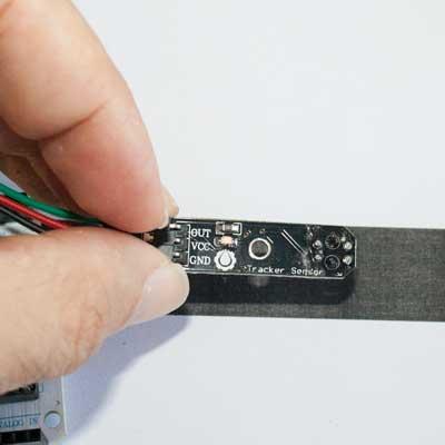 Sensor TCRT5000 sobre una zona oscura
