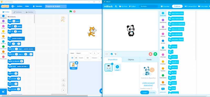 Programación por bloques: Scratch y mblock
