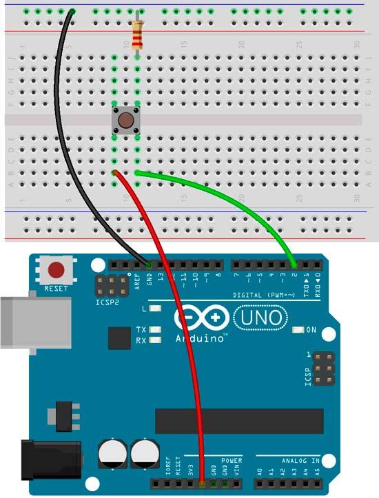 Esquema para un contador de interrupciones con Arduino