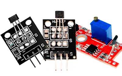 Sensores de campo magnético KY-035, KY-003 y KY-024