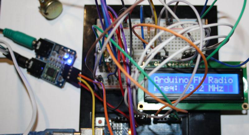 Radio fm con Arduino, módulo TEA5767 y dos pulsadores