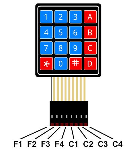 Configuración de un teclado matricial para Arduino