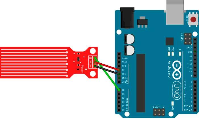 Conexión del sensor a la tarjeta Arduino