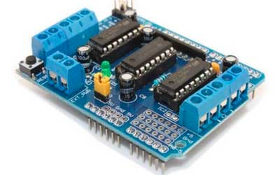 Shield controlador de motor L293D